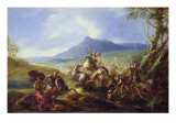 Battle Scene, Before 1680 Giclee Print by Joseph Parrocel