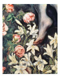 The Assumption of the Virgin, detail of flowers, c.1613 Giclee Print by  El Greco