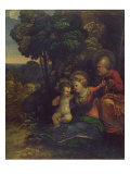 Rest During the Flight into Egypt, c.1510-12 Giclée-tryk af Dosso Dossi
