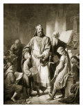 Charlemagne and His Scholars Giclee Print by Eugen Von Blaas