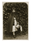 Agnes Grace Weld, as 'Little Red Riding Hood', 18th August 1857 Giclee Print by Charles Lutwidge Dodgson