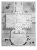 Plan of the Principal Story of the White House from 1807, Giclee Print