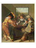 Backgammon Players Lámina giclée por Dirck Hals