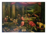 The Marriage at Cana Giclee Print by Leandro Da Ponte Bassano