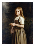 Girl Knitting, 1854 Giclee Print by Minna Heeren