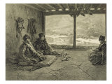 Sharia Lecture at Khosrakh, Dagestan, engraved by Adolphe Mouilleron Giclee Print by Grigori Grigorevich Gagarin