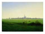 Meadows near Greifswald Reproduction procédé giclée par Caspar David Friedrich