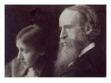Virginia Woolf and Her Father Sir Leslie Stephen, C.1903 Giclee Print
