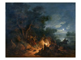 Attack by Robbers at Night, c.1770 Giclee Print by Philip James Loutherbourg
