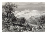The Mount of Olives, from Mount Zion, engraved by S. Bradshaw Giclee Print by Harry Fenn