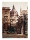 Entrance Gateway of Hertford College and the Radcliffe Library, 1903 Giclee Print by John Fulleylove