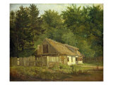 A House in the Frederiksdal Forest near Copenhagen, 1828 Giclee Print by Christian Ernst Bernhard Morgenstern