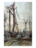 The Battle of the Somme, 1916 Giclee Print by Francois Flameng