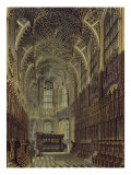 Henry the Seventh Chapel, Plate 8 from 'Westminster Abbey', engraved by J. Bluck Giclee Print by Frederick Mackenzie