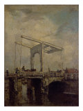 A Drawbridge in a Dutch Town, 1875 Giclee Print by Jacob Henricus Maris