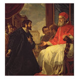 Michelangelo and Pope Julius II Giclee Print by Anastasio Fontebuoni