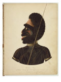 Cobbawn Wogi, Native Chief of Port Stephen, 1820 Giclee Print by Richard Browne