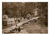 Grape Vine Bridge Built by Us Engineers, 1861-65 Giclee Print by Mathew Brady & Studio