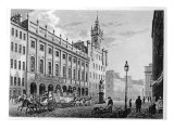 View of Town Hall, Exchange, Glasgow, Engraved by Joseph Swan, 1828 Giclee Print by John Knox