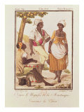 Negro and Negress from Martinique Dancing &#39;la Chica&#39;, engraved by Lachuassee, 1805 Giclee Print by Jacques Grasset de Saint-Sauveur