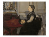 Madame Manet at the Piano, 1868 Giclee Print by Édouard Manet