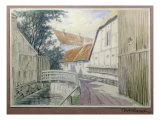 Bridge over the Canal Giclee Print by M.F. Larsen