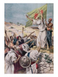 Preaching 'Holy War' During Uprising in British India, Illustration from 'Le Petit Journal', 1897 Giclee Print by Fortune Louis Meaulle