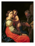 The Holy Family Giclee Print by Simone Cantarini