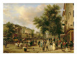 View of Boulevard Montmartre, Paris, 1830 Giclee Print by Guiseppe Canella