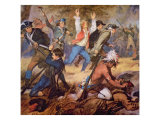 The Massacre of Wyoming Valley in July 1778 Giclee Print by Alonzo Chappel