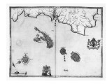 Map No.3 Showing the route of the Armada fleet, engraved by Augustine Ryther, 1588 Giclee Print by Robert Adams
