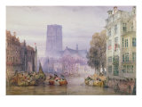 The Great Church of St. Lawrence, Rotterdam, 1881 Giclee Print by William Callow