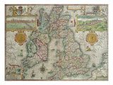 Map of the Kingdom of Great Britain and Ireland, 1610 Giclee Print by Jodocus Hondius
