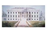 The White House in 1817 Giclee Print by Benjamin Henry Latrobe
