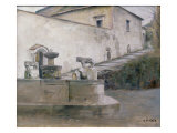 The Fountain, Italy Gicleetryck av Carl Holsoe