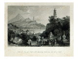 Lake See-Hoo and the Temple of Thundering Winds, from the Vale of Tombs, engraved by J.C. Bentley Giclee Print by Thomas Allom
