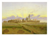 Dawn at Neubrandenburg Giclee Print by Caspar David Friedrich