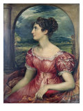Portrait of Miss Puxley, 1826 Giclee Print by John Linnell