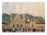 The Plaza de Bolivar, Bogota, 1837 Giclee Print by J. Castillo
