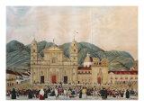 The Plaza de Bolivar, Bogota, 1837 Giclee Print by J. Castillo