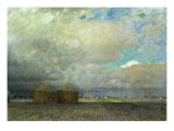 Landscape with Huts, 1900 Giclee Print by Leopold Karl Walter von Kalckreuth