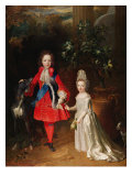 Prince James Francis Edward Stuart and Princess Maria Theresa Stuart, 1695 Giclee Print by Nicolas de Largilliere