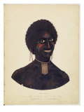 Wambela, Wife of Cobbawn Wogi, Native Chief of Port Stephen, 1820 Giclee Print by Richard Browne