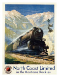 North Coast Limited in the Montana Rockies, Northern Pacific advertisement, c.1930 Giclee Print