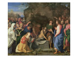 The Resurrection of Lazarus, c.1508-10 Giclée-Druck von Jacopo Palma