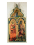 SS. Jerome and John the Baptist, Side Panel from The Madonna and Child with Holy Trinity Tabernacle Giclee Print by  Fra Angelico