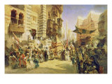 The Handing Over of the Sacred Carpet in Cairo, 1876 Giclee Print by Konstantin Egorovich Makovsky