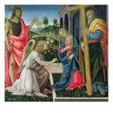 Annunciation with St. Joseph and St. John the Baptist, c.1485 Giclee Print by Filippino Lippi
