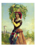 An Italian Fruit Seller Giclee Print by John Adam P. Houston