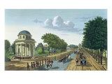 The Parc Monceaux, c.1815-20 Giclee Print by Henri Courvoisier-Voisin